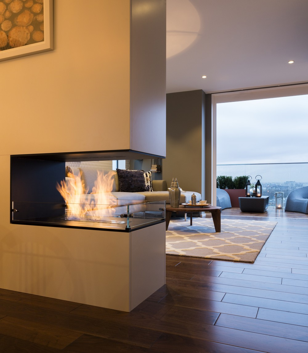 2-Sided Electric Fireplace