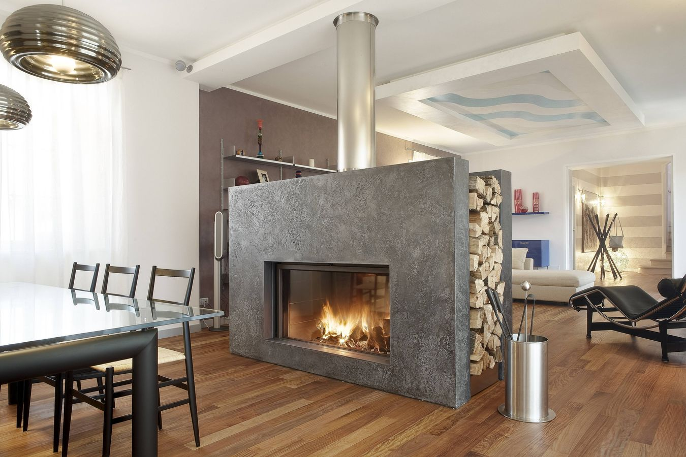 2 Sided Fireplace Inserts Design Ideas