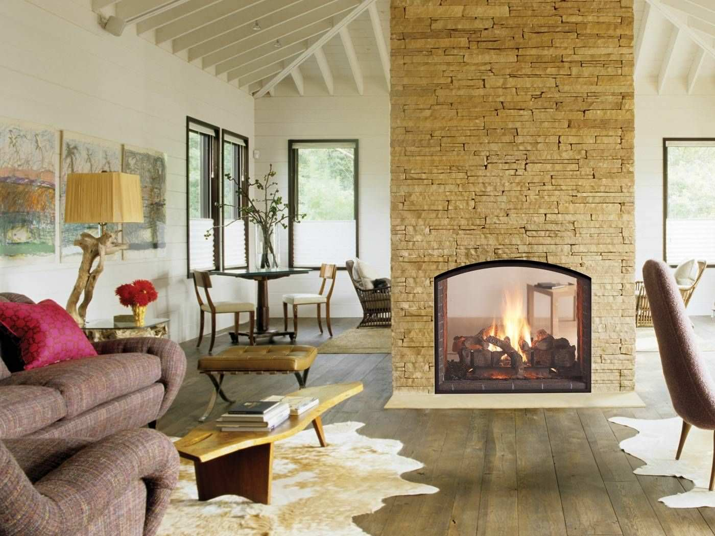 2-Sided Fireplace