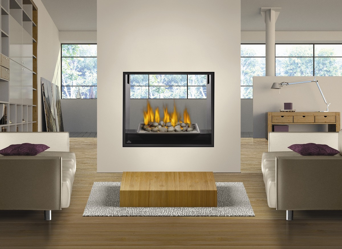 2 Sided Gas Fireplace Inserts