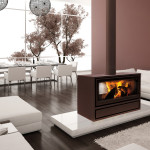 2-Sided Wood Burning Fireplace
