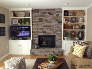 Air Stone Fireplace