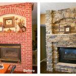 Air Stone Fireplace Before and After