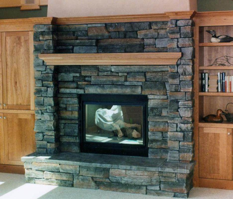 Air Stone Fireplace Ideas