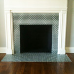 Antique Tile Fireplace Surround