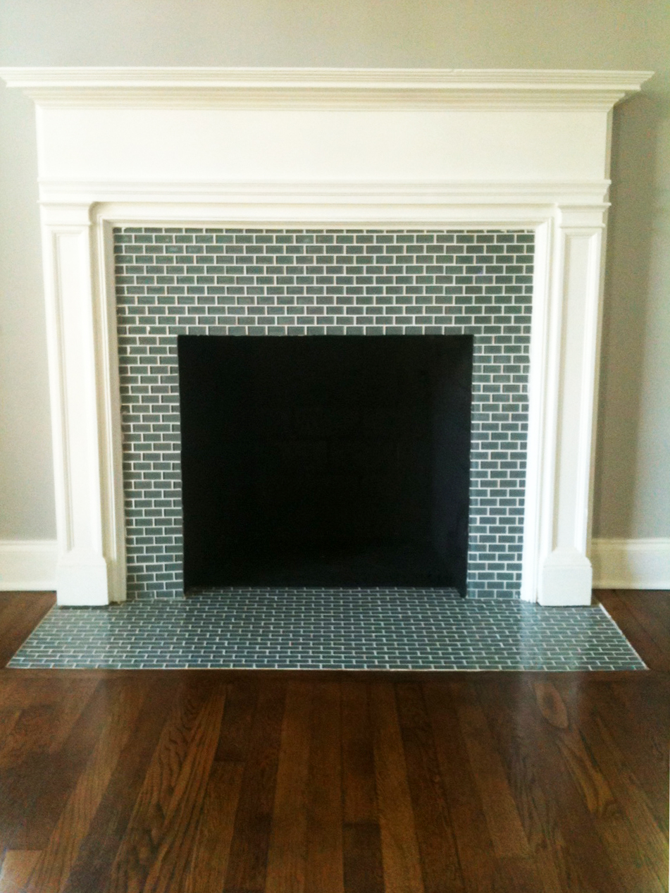 Antique Tile Fireplace Surround FIREPLACE DESIGN IDEAS
