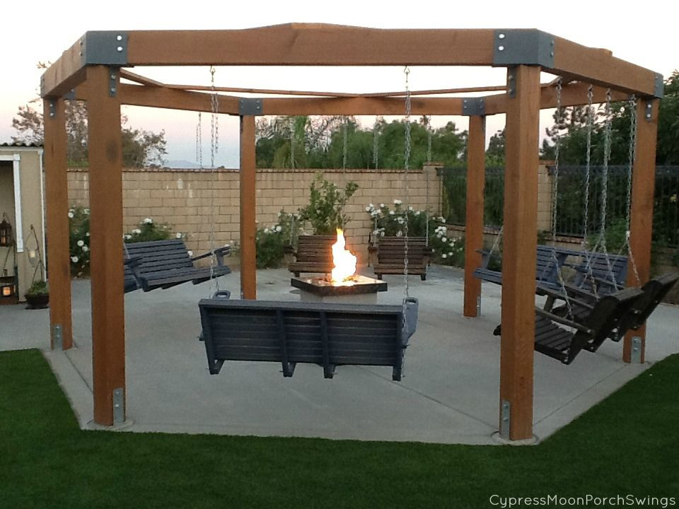Bench Swing Fire Pit