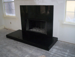 Black Granite Fireplace Surround