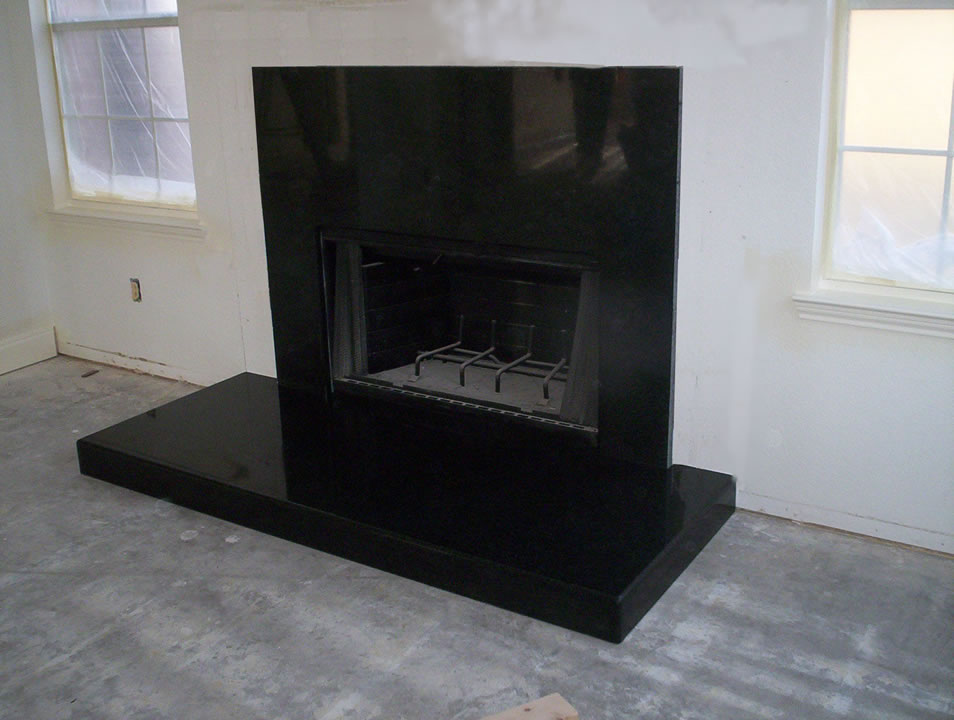 Black Granite Fireplace Surround