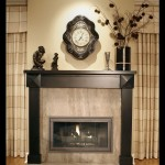 Black Metal Fireplace Surround