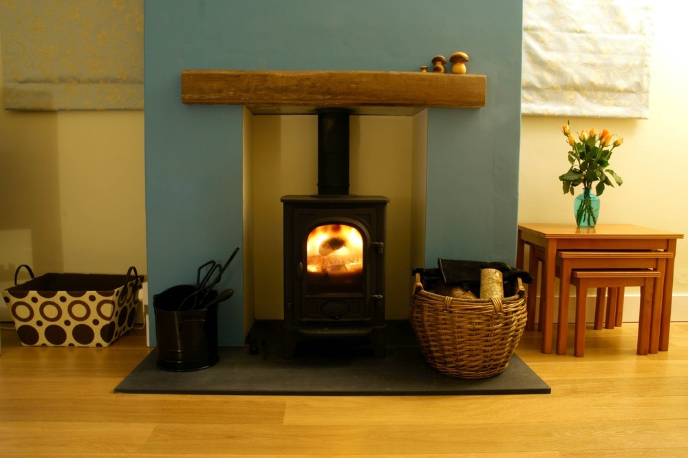 Black Slate Fireplace Hearth