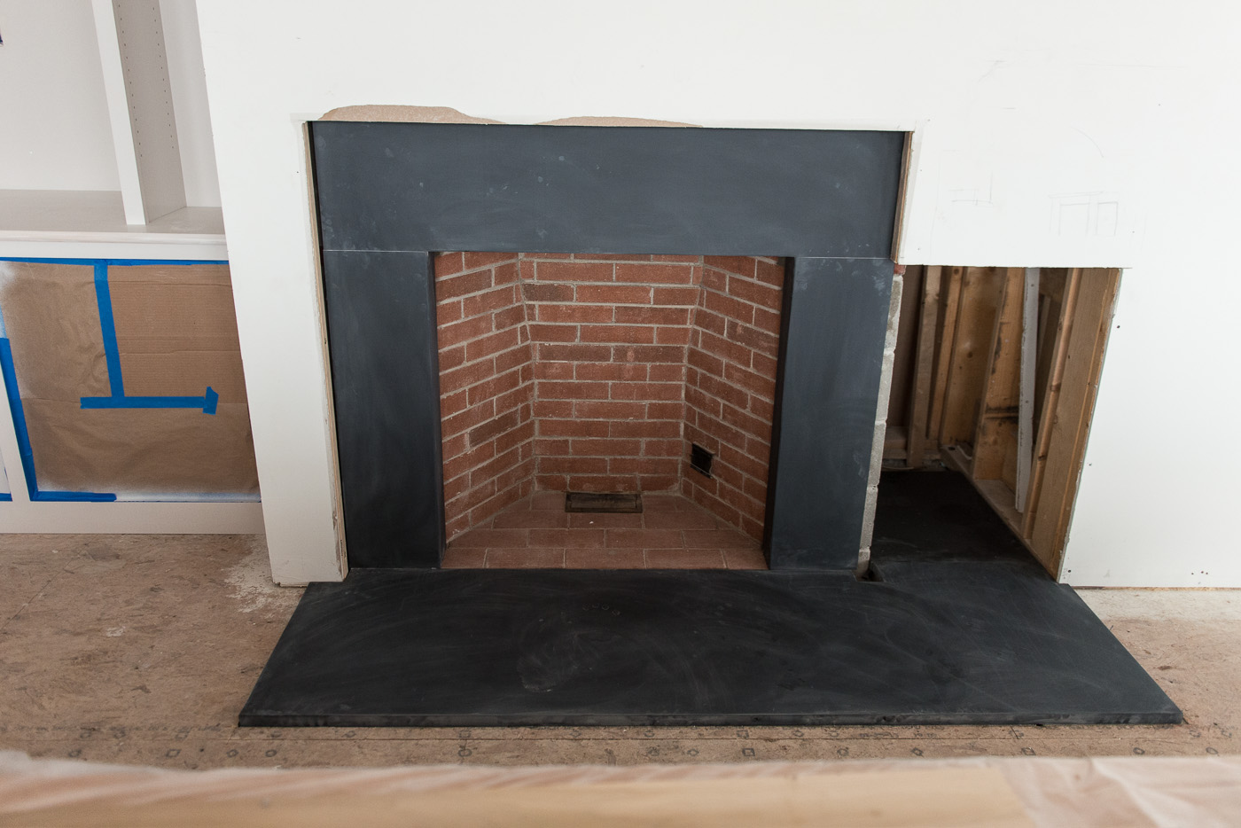 slate fireplace surround and its negative sides black slate fireplace
