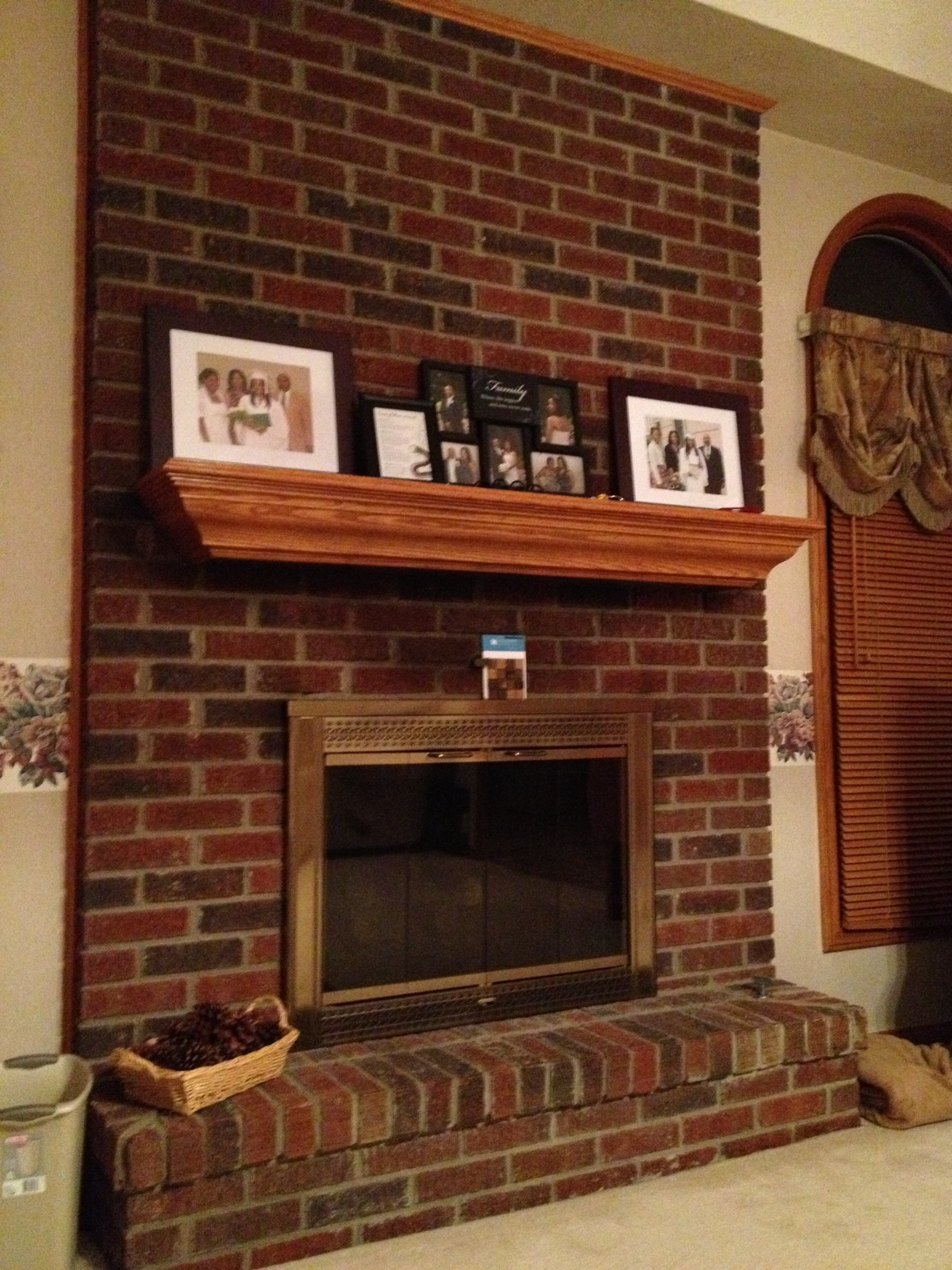 Brick Fireplace Part - 30: Brick Fireplace Makeover