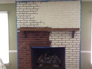 Brick Fireplace Paint