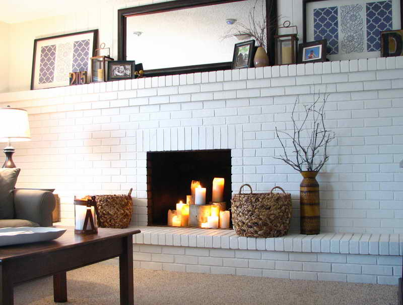 Brick fireplace paint colors fireplace design ideas Brick fireplace wall decorating ideas