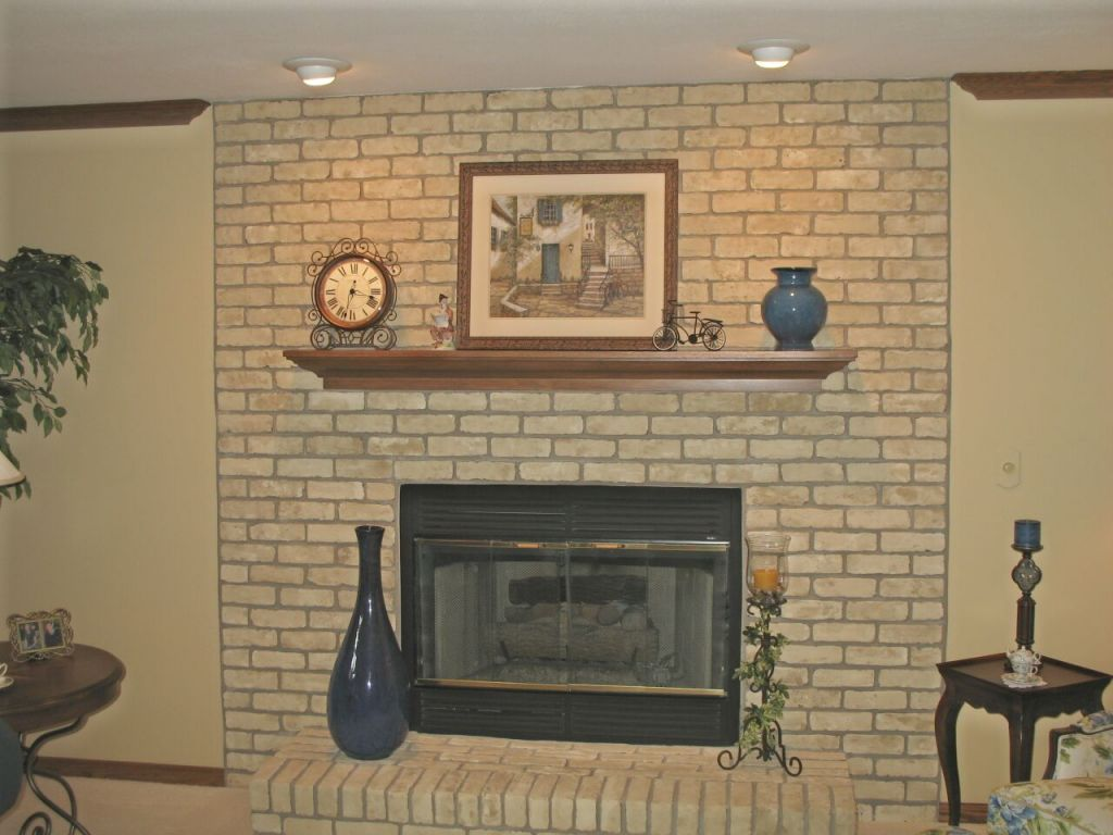 Finding a perfect brick fireplace paint fireplace design for Bricks painting design