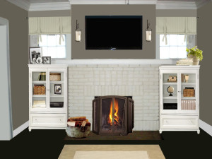 white brick fireplace decorating ideas fireplace design Fireplace Decorating Design Idea Fireplace Mantels for Brick Fireplaces