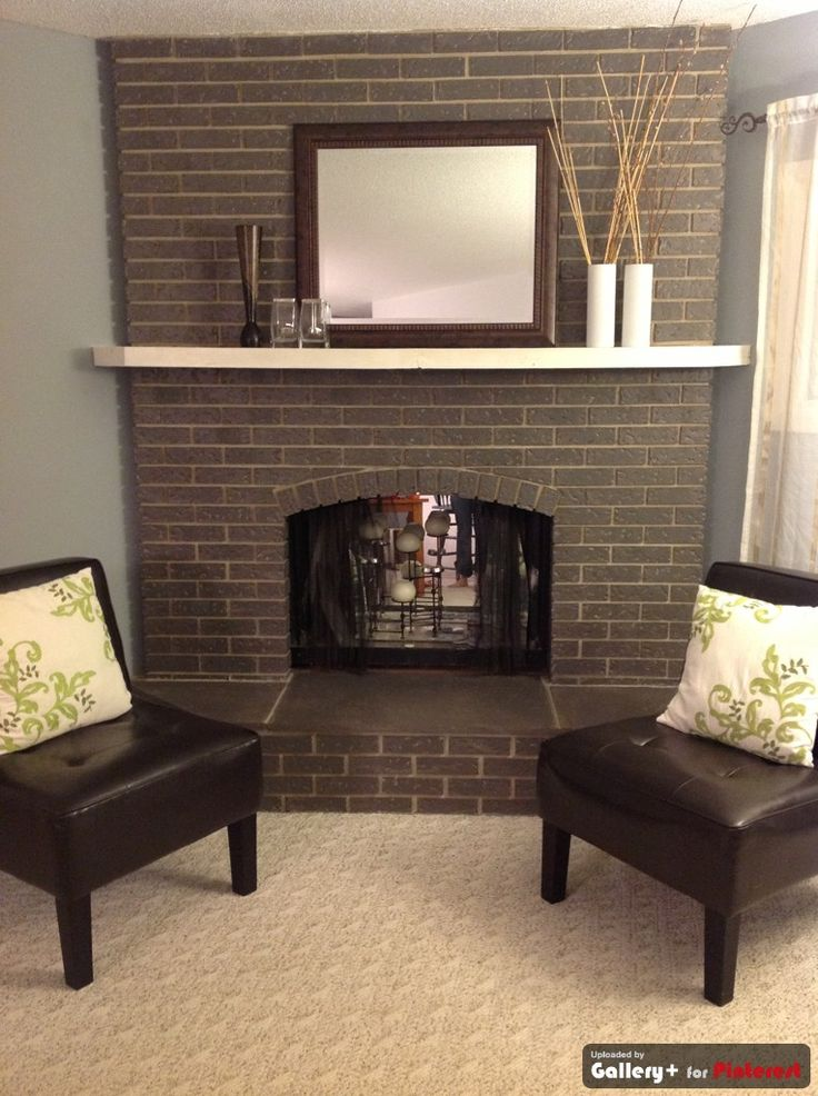 Preferred Brick Fireplace Painting Ideas | FIREPLACE DESIGN IDEAS FS92