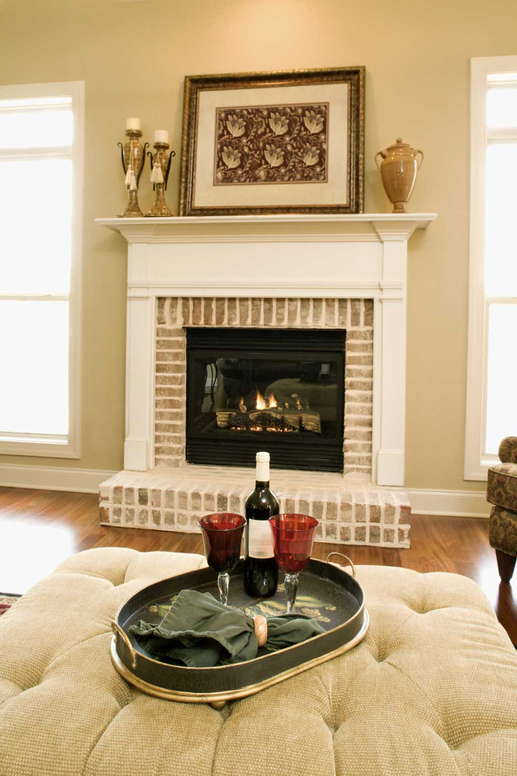 brick fireplace white mantle fireplace design ideas