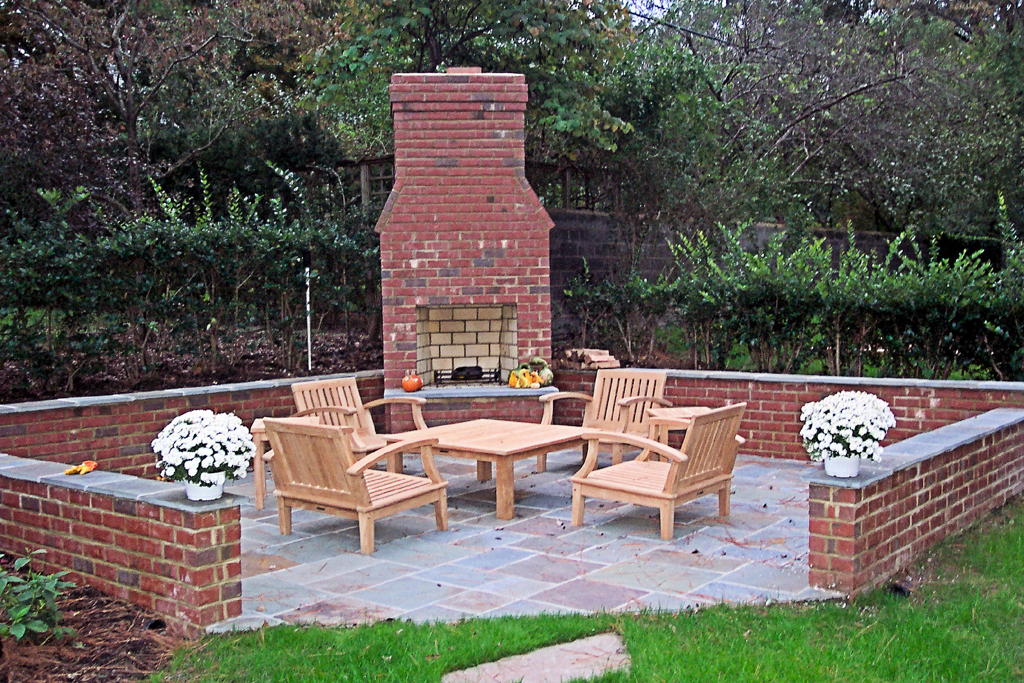 Image of: Building An Brick Outdoor Fireplace Together Fireplace Design Ideas