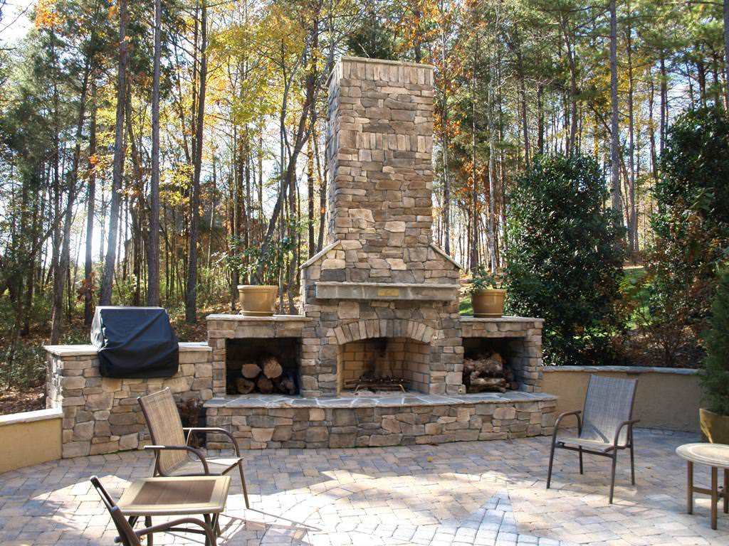 Brick outdoor fireplace plans free fireplace design ideas for Patio fireplace plans