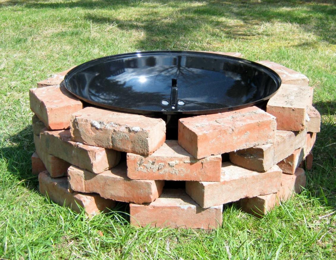 Build Brick Fire Pit Grill