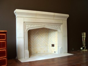 Cast Stone Electric Fireplace