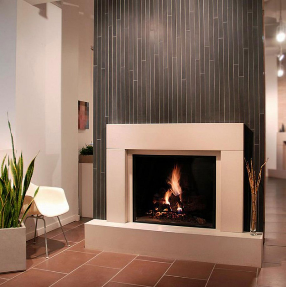 Ceramic Tile Fireplace Surround | FIREPLACE DESIGN IDEAS