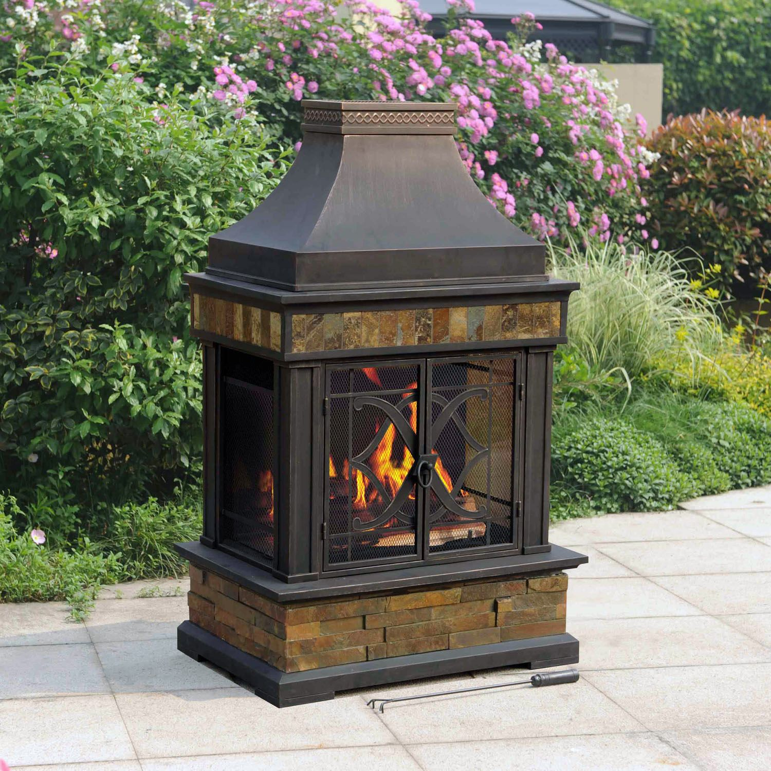 Chimney outdoor fire pit fireplace design ideas for Where to buy outdoor fireplace