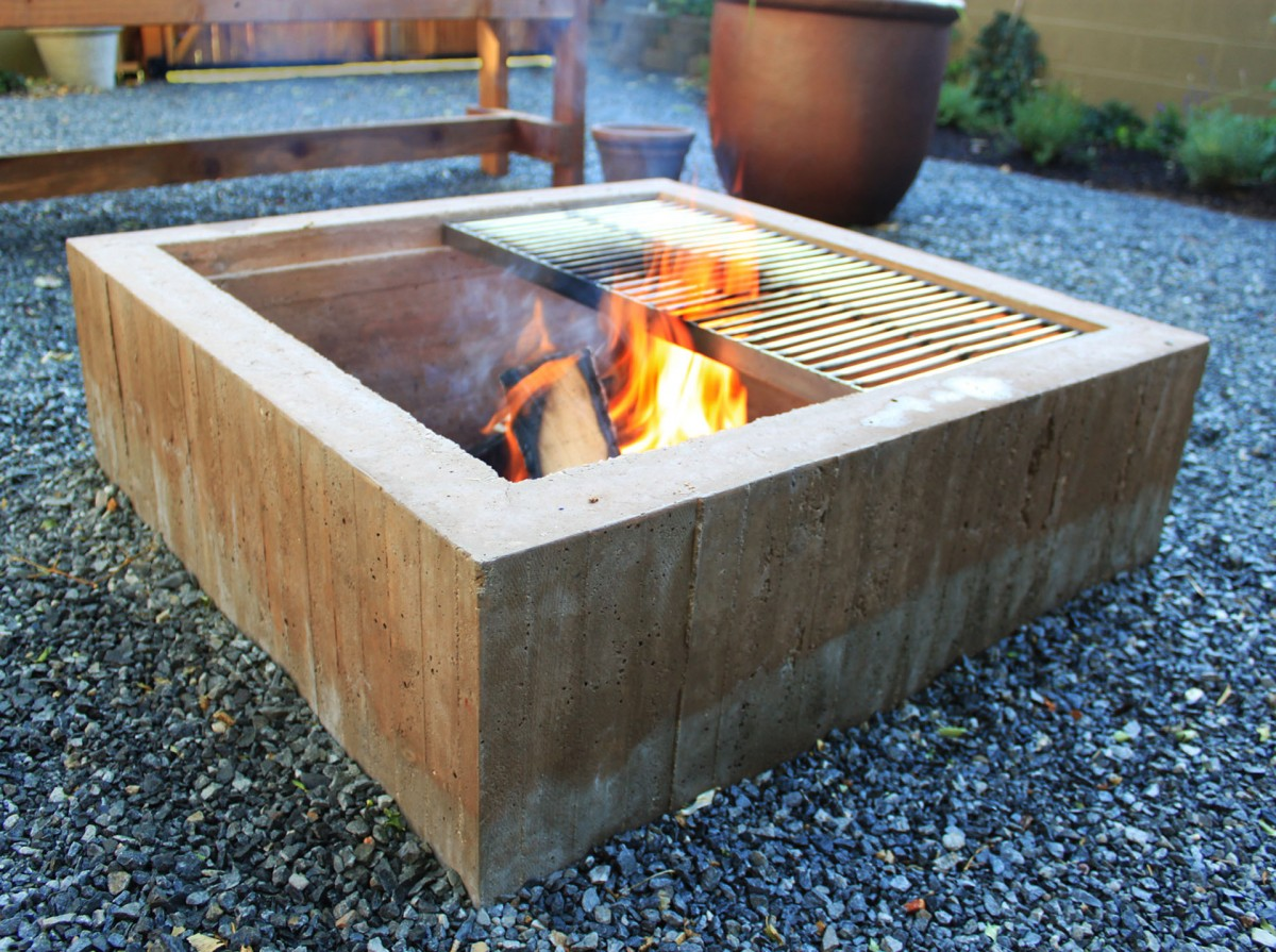 Concrete Fire Pit DIY