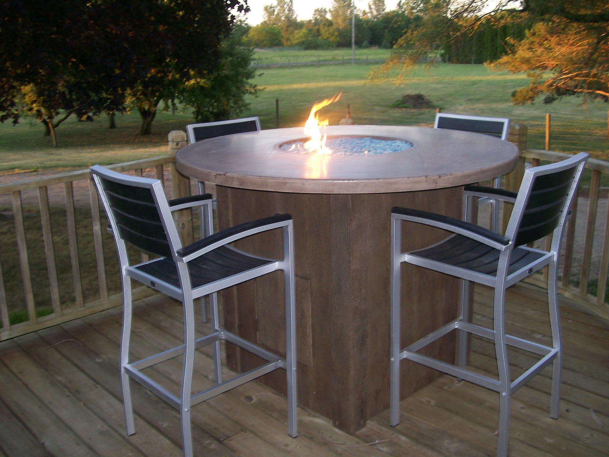 Concrete Fire Pit Table Fireplace Design Ideas