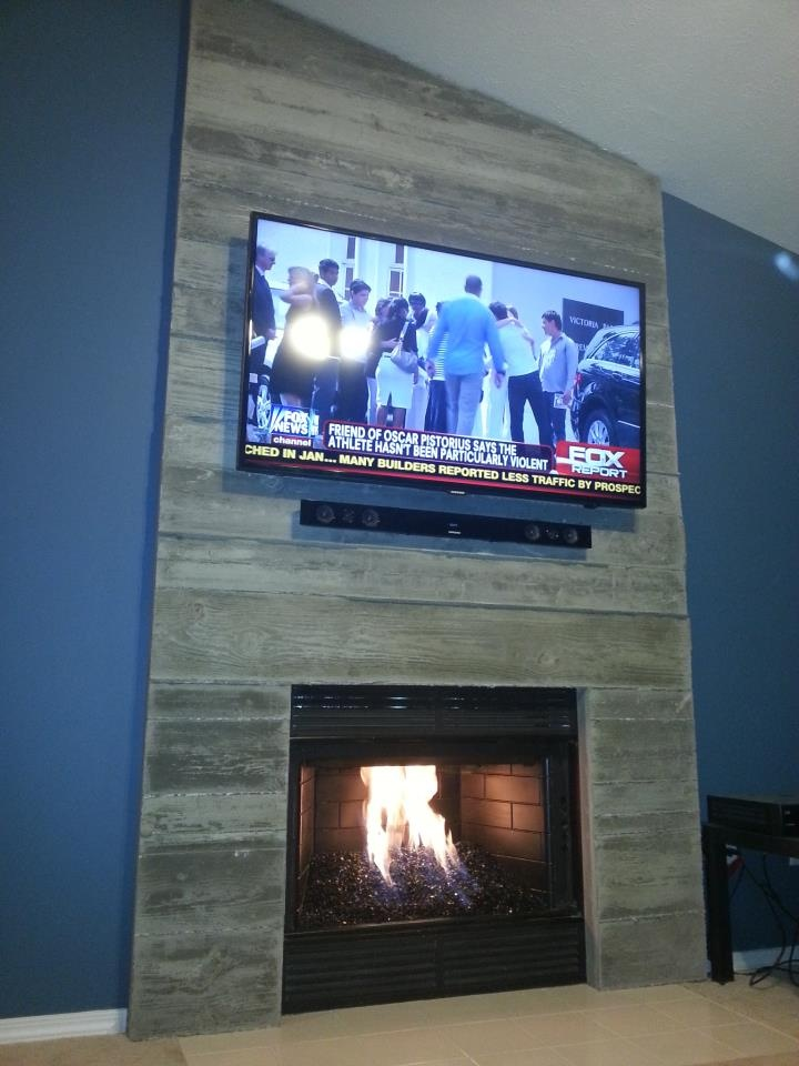 Fireplace design ideas part 3 concrete fireplace surround diy solutioingenieria Gallery
