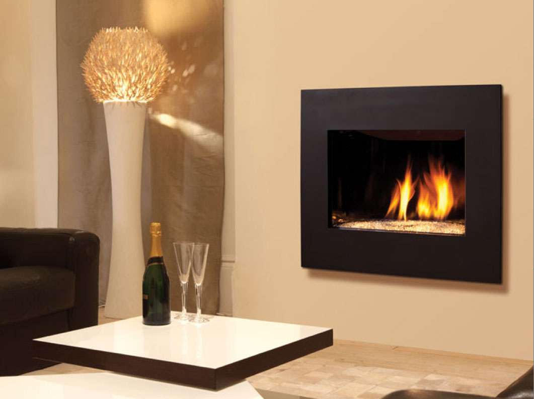 Contemporary electric fireplace the warmth and the for Contemporary fireplace insert
