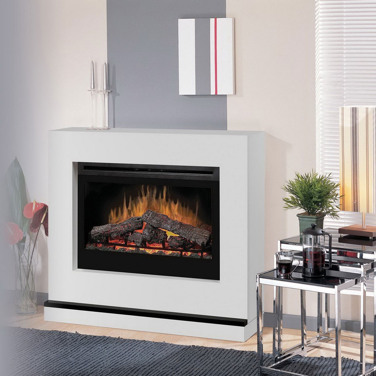 Contemporary Electric Fireplace Inserts