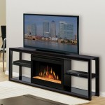 Contemporary Electric Fireplace Media Center