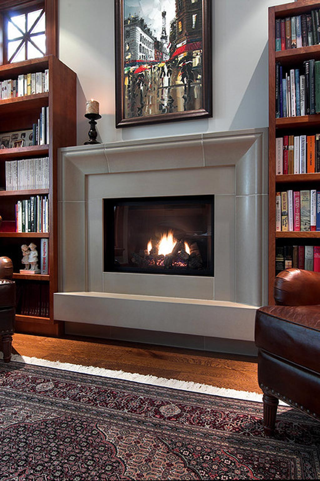Some ideas of contemporary fireplace surrounds decor | FIREPLACE DESIGN IDEAS