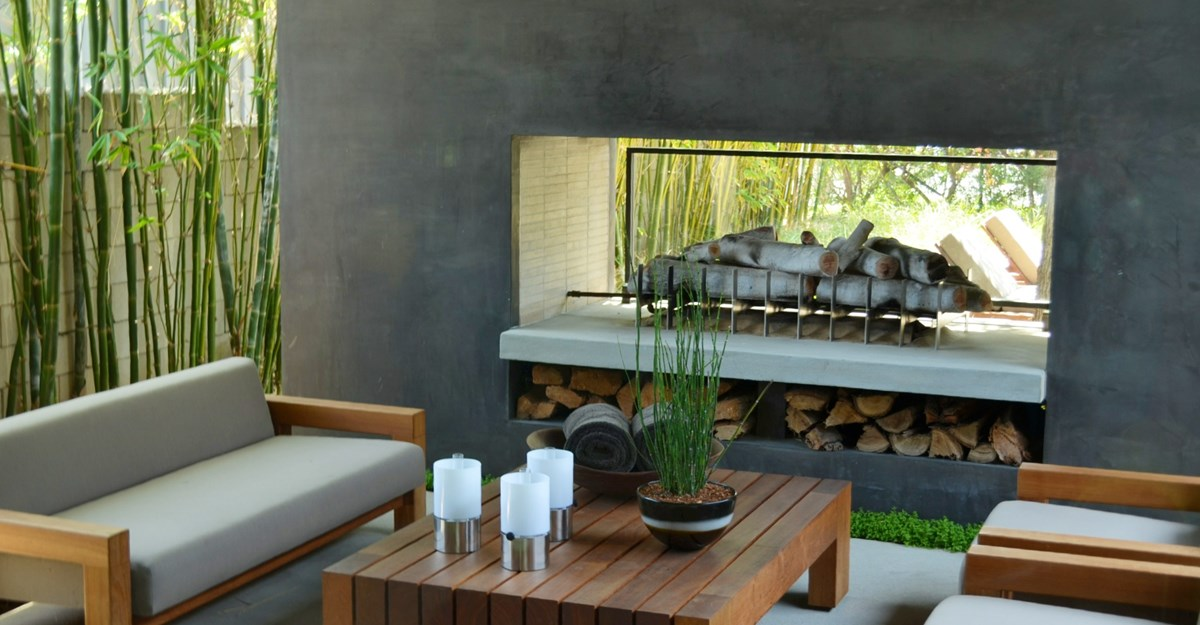 Contemporary Outdoor Fireplace Ideas