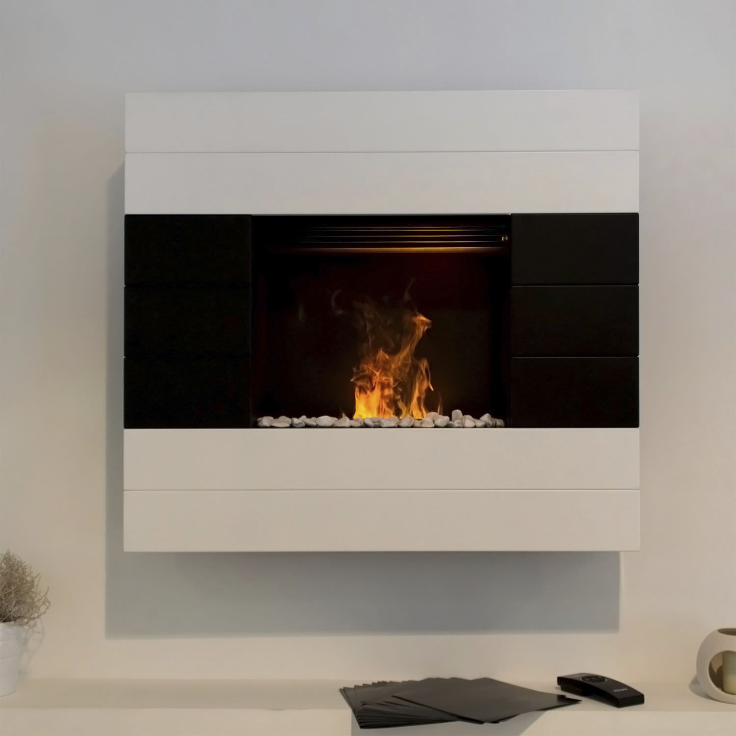 Contemporary Wall Mount Electric Fireplace FIREPLACE