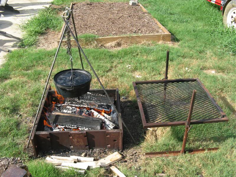 Cooking Over a Fire Pit