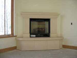 Corner Fireplace Mantels and Surrounds