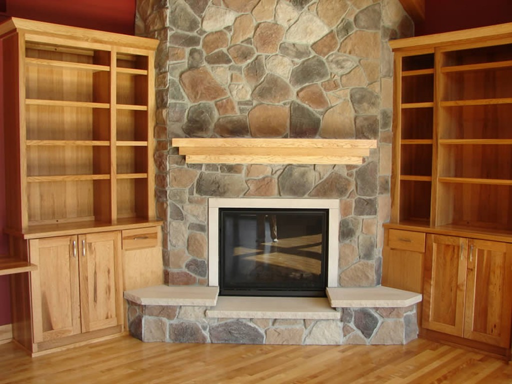 Corner Fireplace Mantels Pictures