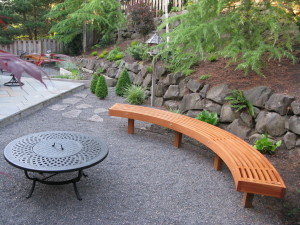 Curved Fire Pit Bench