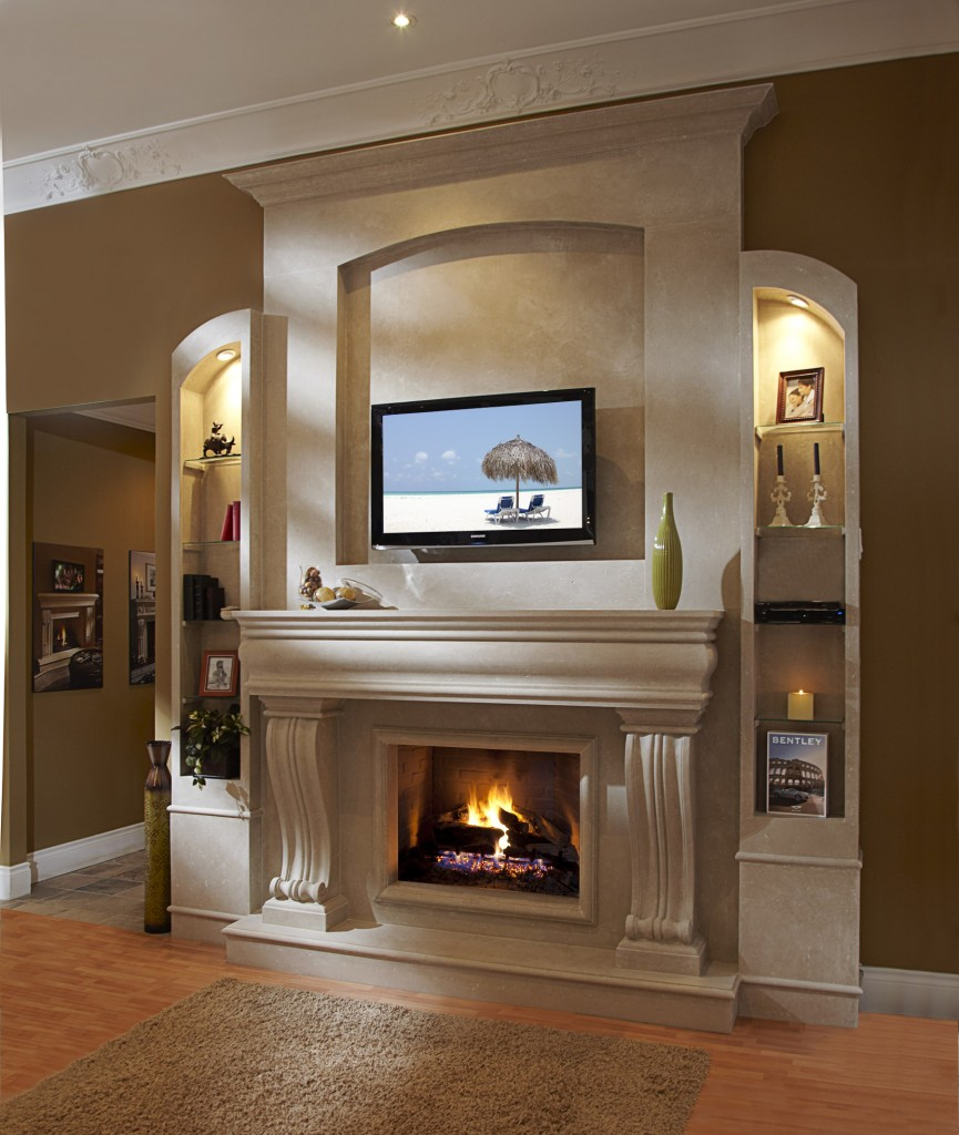 decorate your home with a corner fireplace mantel White Full Wall Fireplaces White Modern Fireplace