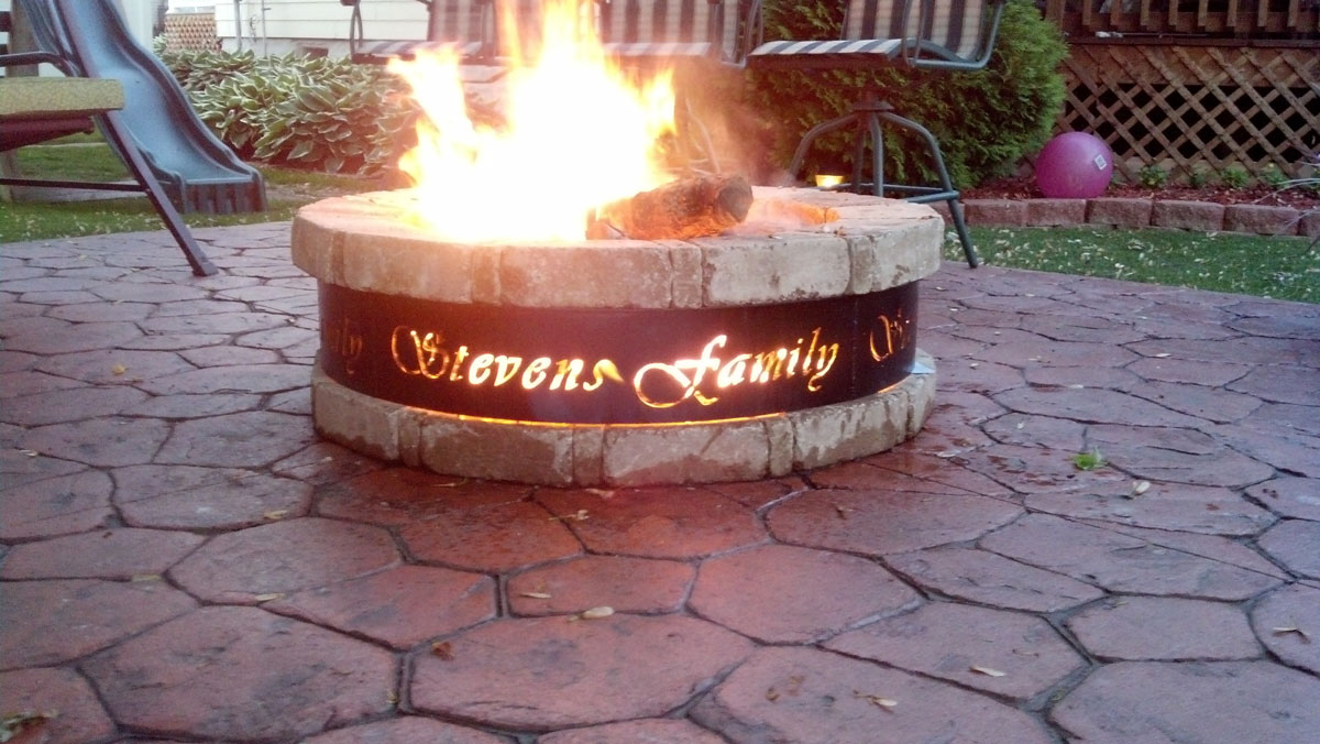 Custom Fire Pit Ring - Custom Fire Pit Ring FIREPLACE DESIGN IDEAS