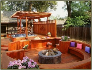 Deck Designs with Fire Pit