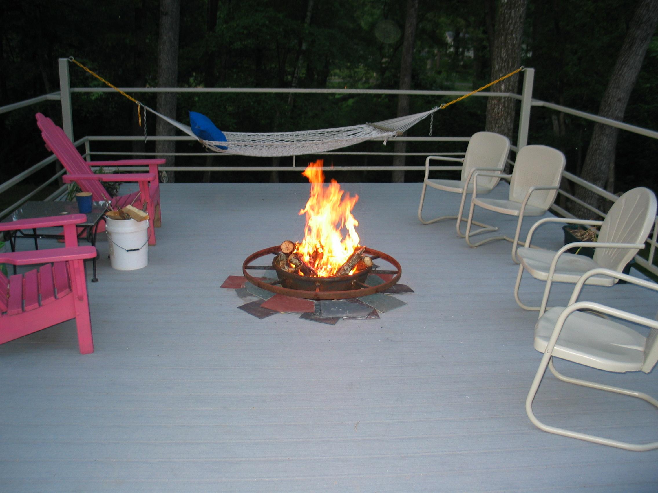 Deck Fire Pit Mat