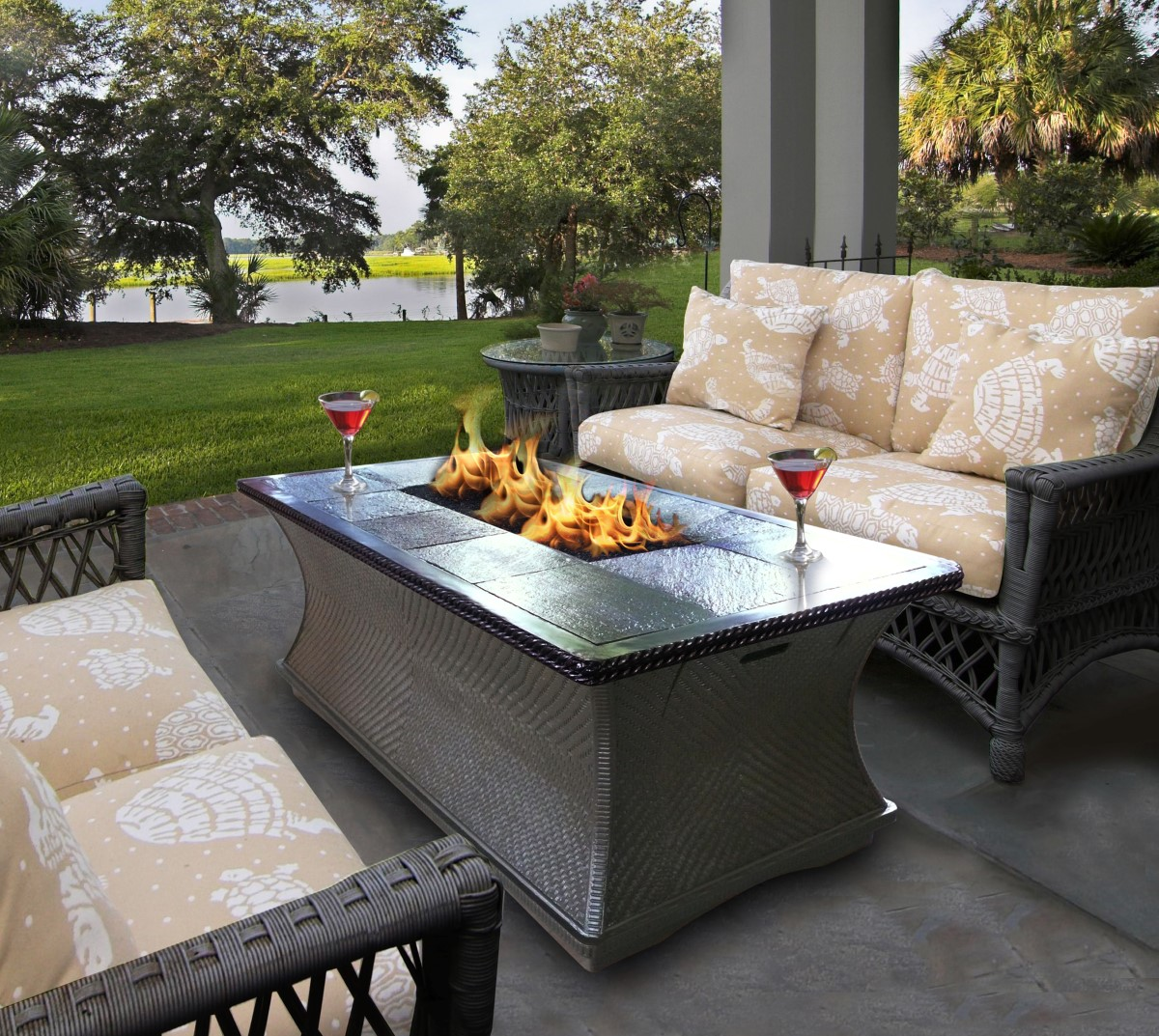 outdoor propane fire pit Deck Propane Fire Pit | FIREPLACE DESIGN IDEAS outdoor propane fire pit