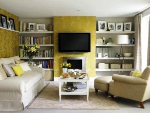 Decorating Living Room with Fireplace