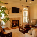 Design Living Room with Fireplace
