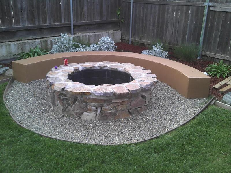 Diy backyard fire pit designs fireplace design ideas for Diy home design ideas landscape backyard
